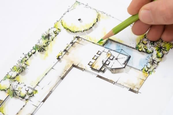 ontwerpen nieuwe tuin